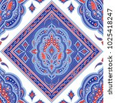 floral indian paisley pattern...   Shutterstock .eps vector #1025418247