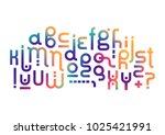 vector lowercase modern... | Shutterstock .eps vector #1025421991