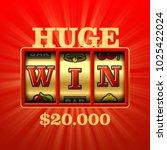huge win  brught casino banner... | Shutterstock .eps vector #1025422024