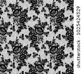 seamless vector black lace... | Shutterstock .eps vector #1025424529