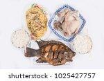 fish  chicken  pig. ancestor... | Shutterstock . vector #1025427757