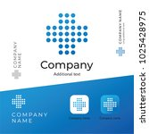 medical cross logo modern... | Shutterstock .eps vector #1025428975