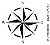 compass rose for marine or... | Shutterstock .eps vector #1025429767
