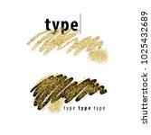 brush strokes with golden...   Shutterstock .eps vector #1025432689