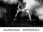 weightlifter clapping hands and ... | Shutterstock . vector #1025435311