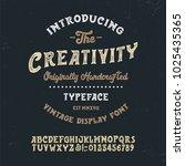 original handmade alphabet.... | Shutterstock .eps vector #1025435365