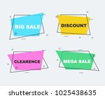 flat linear promotion ribbon... | Shutterstock .eps vector #1025438635