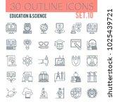 set of modern outline icons of... | Shutterstock .eps vector #1025439721