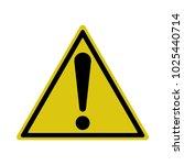 exclamation sign  hazard... | Shutterstock .eps vector #1025440714