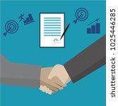 collaboration between business ...   Shutterstock .eps vector #1025446285