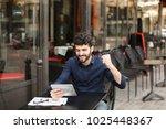 dissatisfied man losing at... | Shutterstock . vector #1025448367