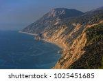 view of egremni beach. lefkada... | Shutterstock . vector #1025451685