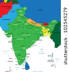 india map   Shutterstock .eps vector #102545279