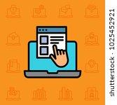 set of computer icons. vector... | Shutterstock .eps vector #1025452921