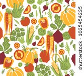 papercut style vegetables... | Shutterstock .eps vector #1025454235