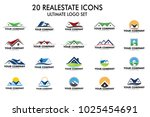 vector logo design of home real ... | Shutterstock .eps vector #1025454691