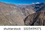 panoramic view of the colca... | Shutterstock . vector #1025459371