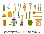 different green and orange... | Shutterstock .eps vector #1025459677