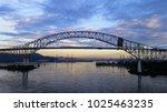 landscape at dawn in the sea... | Shutterstock . vector #1025463235