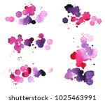 paint splashes and drops set.... | Shutterstock . vector #1025463991