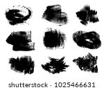set of hand drawn acrylic... | Shutterstock .eps vector #1025466631