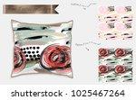 interior design textile... | Shutterstock .eps vector #1025467264