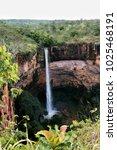 huge waterfall at chapada dos... | Shutterstock . vector #1025468191