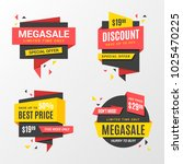 big sale banners  labels ... | Shutterstock .eps vector #1025470225