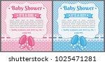 set of baby shower invitation... | Shutterstock .eps vector #1025471281