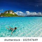 tropical beach  andaman sea ...   Shutterstock . vector #102547649