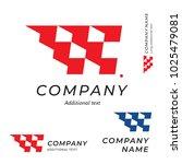 race logo speed flag emblem... | Shutterstock .eps vector #1025479081