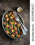 green beans with mussels  red... | Shutterstock . vector #1025482627