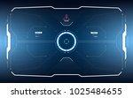 sci fi concept of future hud... | Shutterstock .eps vector #1025484655