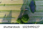Aerial Top Down Photo Tractor...