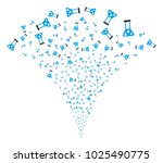 chemistry explosion fountain.... | Shutterstock .eps vector #1025490775