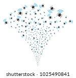 radio bug stream fountain.... | Shutterstock .eps vector #1025490841