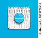 blue medicine pill in blister...   Shutterstock .eps vector #1025492665