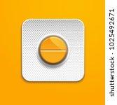 orange medicine pill in blister ... | Shutterstock .eps vector #1025492671