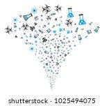 chemistry symbols festive... | Shutterstock .eps vector #1025494075