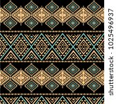 tribal art pattern. ethnic... | Shutterstock .eps vector #1025496937