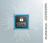 processor with the text general ... | Shutterstock .eps vector #1025502094