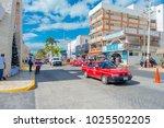 isla mujeres  mexico  january... | Shutterstock . vector #1025502205