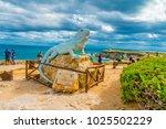 isla mujeres   january 10  2018 ... | Shutterstock . vector #1025502229