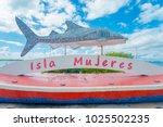 isla mujeres   january 10  2018 ... | Shutterstock . vector #1025502235