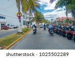 isla mujeres   january 10  2018 ... | Shutterstock . vector #1025502289