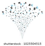radio transmitter burst... | Shutterstock .eps vector #1025504515