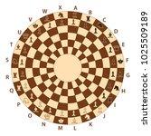 round brown chessboard for...   Shutterstock .eps vector #1025509189
