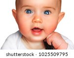 cute child isolated on white... | Shutterstock . vector #1025509795