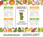vintage vegetarian menu | Shutterstock . vector #1025511097