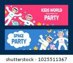 children astronauts card set   Shutterstock . vector #1025511367
